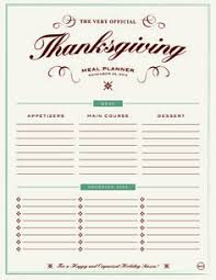 free downloadable printable thanksgiving menu templates