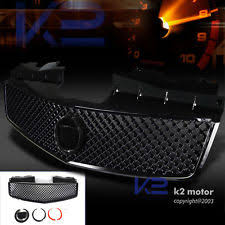 cadillac cts v grill glossy piano black 03 07 cts v mesh grill front grille fits