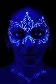 Black Light Tattoos Show Nice Uv Light Mask Tattoo Design On Face Golfian Com