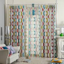 Geometric Pattern Curtains Blue Yellow And Modern Curtains Geometric Pattern