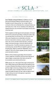 Resume Landscape Architect Susan Cherbuliez Landscape Architecture Firm Profile