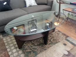 oval glass and wood coffee table majestic tiny oval glass top coffee table without perseus montreal