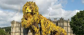 lion puppet warhorse team create longleat lion puppet insidewiltshire