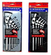Hex Key Set by Napa 6 Piece Metric Flexible Hex Key Set 5 Piece Sae Flexible
