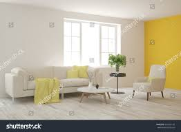 scandinavian interior white room sofa scandinavian interior design stock illustration