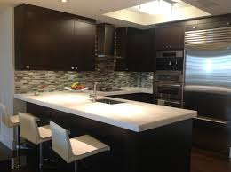 kitchen contemporary backsplash ideas with dark cabinets popular