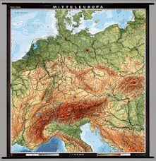 Central Europe Map by Central Europe Physical David Rumsey Historical Map Collection