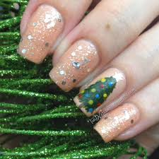 christmas tree accent nail with bobbie star gazer the nailinator