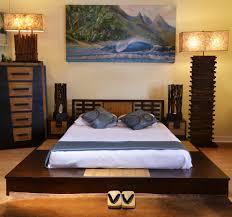 Asian Inspired Platform Beds - bedroom japanese style platform bed made from pallet beds also