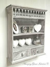 Shabby Chic Spice Rack Shabby Chic Wall Unit Shelf Storage Cupboard Cabinet French