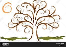 swirly tree sun vector photo bigstock