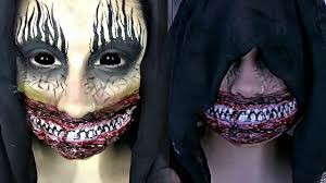 Creepy Makeup Halloween The Smiler Scary Halloween Special Effects Makeup Tutorial Youtube