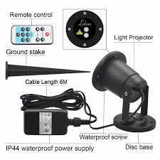 Outdoor Light Remote Control by Dynamic Waterproof Outdoor Spotlight Laser Lights Star Landscape