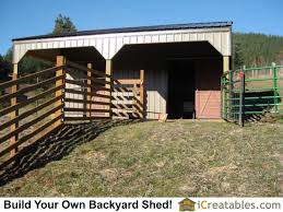 Small Barn Plans Small 2 Stall Horse Barn Plans With Lean To Shed Roof Completed