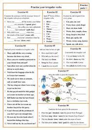 42 free esl irregular verbs worksheets for advanced c1 level