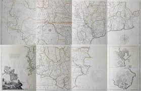 Large Scale Map Antique Large Scale Map Of Devonshire By Benjamin Donn Dated 1765