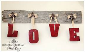 Easy Valentine S Day Decor by Valentine U0027s Day Decor Ideas Hanging Letters Board And Valentine