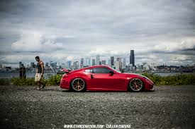 bagged nissan car stanced bagged nissan 370z stanced cars pinterest nissan