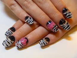 cute animal print acrylic nail designs nail art and tattoo design