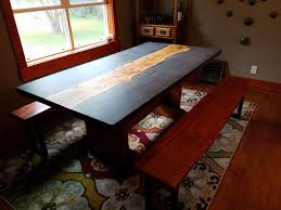 Walnut Slab Table Concrete And Wood Slab Table 6 Steps With Pictures