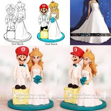mario cake toppers mario character wedding cake toppers