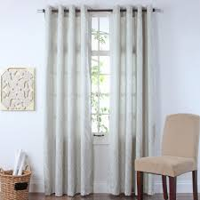 twill u0026 birch 84 u201d meadow jacquard grommet window curtains set of