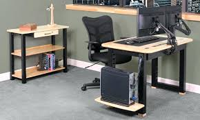 cool computer desk desk with cable management computer desk cable management corner