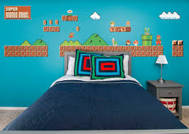 wall theme nes mario bros theme wall decal shop fathead for mario