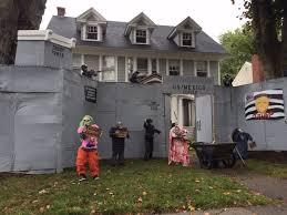 west hartford halloween display makes a political statement fox 61