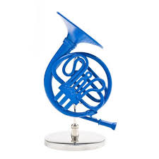 decorative 4 blue horn in cool tv props