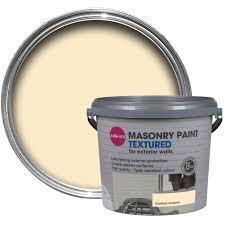 colours clotted cream matt masonry paint 5l departments diy at b u0026q
