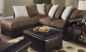 living room elegant microsuede sectional for comfortable living