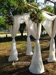 Bamboo Chuppah 4 Post White Chiffon Bamboo Chuppah 2 22 14 Wedding Ceremony