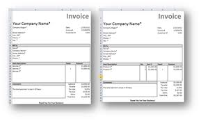Invoice Templates For Excel Free Excel Invoice Template