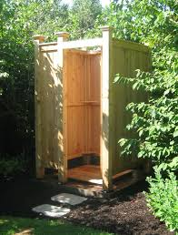 How To Build An Outdoor Shower Enclosure - outdoor showers kits cape cod ma
