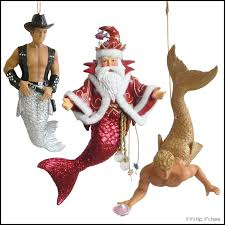 merman ornaments by december diamonds