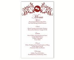 wedding menu cards template the 25 best diy menu cards template ideas on diy