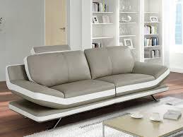 canapé cuir gris clair canapé en cuir de vachette 3 coloris disponible latika