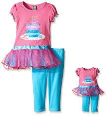 Dolly And Me Clothing Amazon Com Dollie U0026 Me Big Girls U0027 Knit To Woven Tutu Birthday