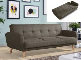 canap 3 place convertible canapé 3 places convertible tissu anthracite taupe maelo