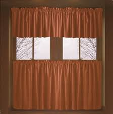 curtains rust colored kitchen curtains decor 25 best ideas about
