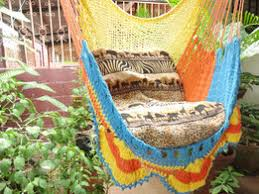tricolor sitting hammock hanging chair natural cotton discovered