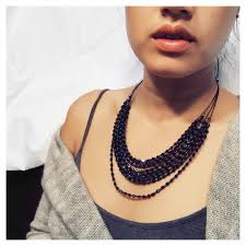 black neck from necklace images From darkness layer necklace sip sangria jewelry jpg