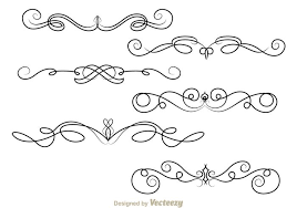 free vector fancy lines ornament 18980 my graphic hunt