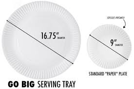 tray plates go big serving tray looks like a disposable paper plate