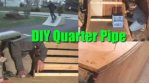 how to build 3 or 4 quarter pipe mini skate ramp diy step by