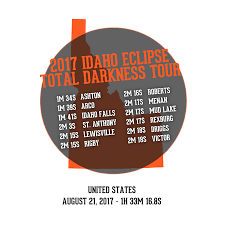 2017 idaho eclipse total darkness tour products from idaho