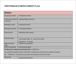 improvement report template performance improvement plan template best business template