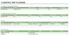 trip planner templates camping trip planner expin franklinfire co