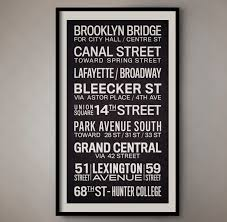 new york city vintage bus roll sign nyc subway sign new york